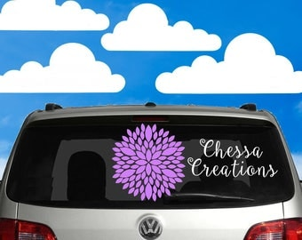 Custom Window Decal Etsy - Car decal stickers custom