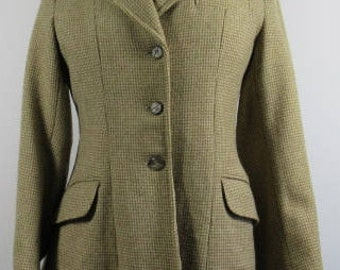 Vintage 1970's CALDENE Ladies Tweed Riding Jacket, Uk 6, Autumn, Winter, Classic, Stylish, Country, Brown, Competition