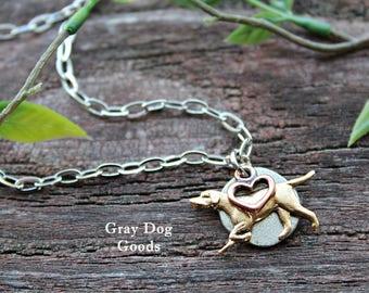 English Pointer Necklace, Pointer Necklace, Pointer Jewelry, Pointer Mom, Hunting Dog Jewelry, Vizsla, Weimaraner
