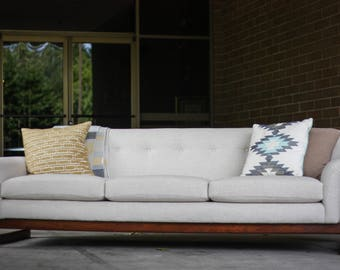 Mid Century Modern Dux Sofa w/ Exposed Walnut Frame
