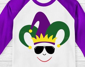 Mardi Gras Face svg, Mardi Gras svg kids, Mardi Gras svg, Fat Tuesday svg, Louisiana Mardi Gras svg, Svg for boy, Svg for girl