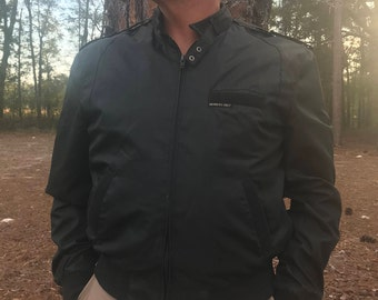 Original Members Only Men's Jacket - Black Large/46