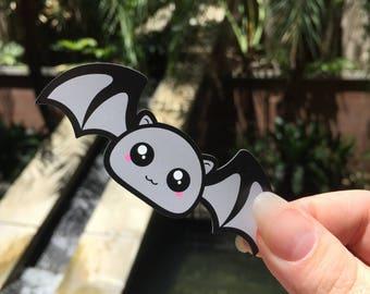Mini Light Grey Bat Thin Magnets (x5)