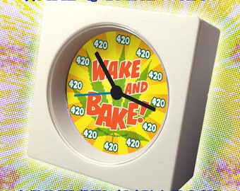 "WAKE & BAKE ""420"" Mini-Travel Alarm Clock - FREE Battery Included!"