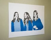 Manson Girls 3 color Riso print
