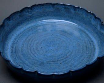 Handmade Ceramic Pie Plate, Baking Dish