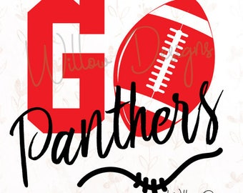 Go Panthers! Football .SVG or .dxf File for Cricut, Silhouette Studio & more!