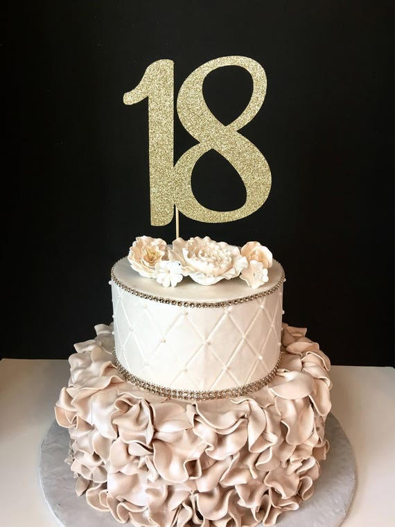 18th birthday cake ideas any number gold glitter 18th birthday cake topper number 1033