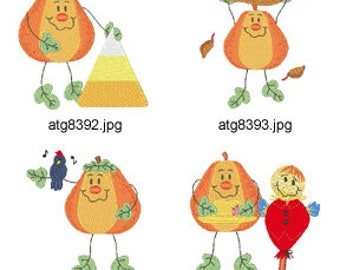 Living-Pumpkins ( 7 Machine Embroidery Designs from ATW ) XYZ17H