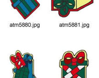 Present ( 7 Machine Embroidery Designs from ATW ) XYZ17K