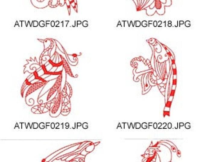 Magic-Birds-Redwork ( 10 Machine Embroidery Designs from ATW ) XYZ17F