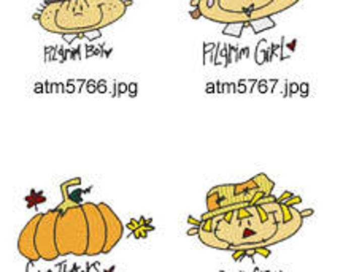 A-Kids-View-Thanksgiving-Faces ( 7 Machine Embroidery Designs from ATW ) XYZ17I