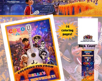 Coco Movie Coloring Book with Crayons