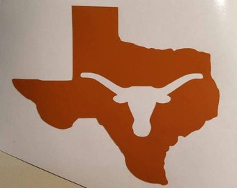 Texas Longhorn Football Decal - permanent vinyl - perfect for Yeti & Rtic cups, coolers, car windows, lunchboxes, laptops etc. Decal only