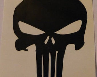 Punisher skull Decal - permanent vinyl - perfect for Yeti & Rtic cups etc. Decal only. Mancave idea!