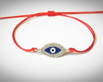 Red String Bracelet, Kabbalah Bracelet, Blue Evil Eye Bracelet, Thread Bracelet, Red String Of Fate, Good Luck, Women Bracelet, Minimalist