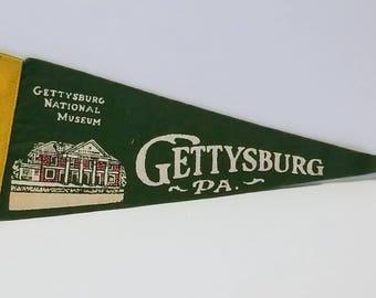 Gettysburg, Pennsylvania - Vintage Pennant