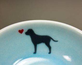 Labrador, Dog Bowl, Dog Gift, Dog Lover Gift, Pet Lover Gift, Pet Memorial, Dog Memorial, Small Bowl, Ceramic Bowl, Sympathy Gift, Pet Loss