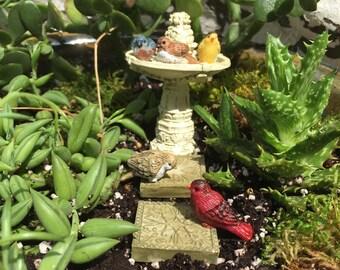 Fairy Garden Fountain/Fountain/Stepping Stones/ Bird/Birds/Miniature/Fairy