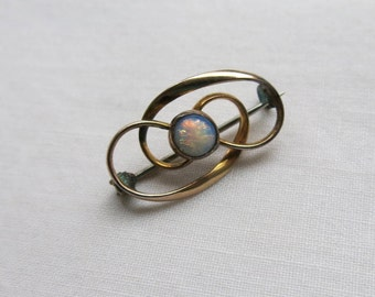 Antique Charles Horner faux opal brooch