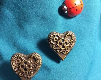 Cute STEAMPUNK Gear HEART Steam Punk Clog Shoe Charms