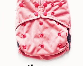 Cloth Diapers, Cloth Diaper Pattern, One Size, All in one, Modern, Bamboo, Nappies, Baby Diaper, Baby Diaper Cover, Pink, Blossom, Rose