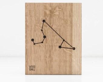 Leo Constellation Wooden Picture, Zodiac Constellation Wooden Picture, Wooden Picture, Stars