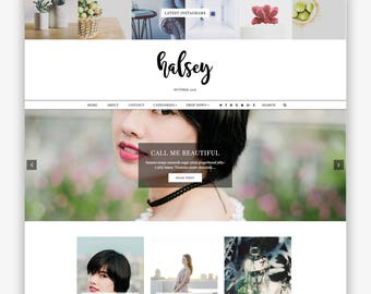 LIMITED! Halsey | Responsive Minimalist Premade Blogger Template