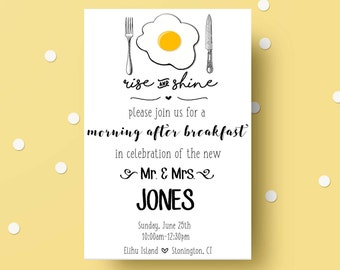 Brunch Invitation | Wedding Brunch | Brunch and Bubbly | Wedding Invitation | Custom Invitation | Brunch Invite