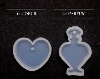 Silicone - mold - perfume - heart with hole