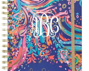 Lilly Pulitzer 2017-2018 Large 17-Month Agenda:  Free Monogram with Purchase
