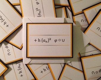 Thank You - Math themed thank you cards - BULK - Geek thank you cards - Maths thank you cards