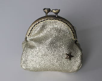 Retro purse gold sequins