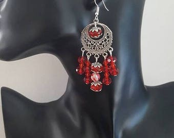 "Earrings ""dangle red"""
