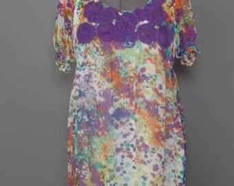 Beige by ECI Floral Splattered Dress