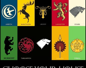 Custom Game of Thrones Houses Embroidered Towels