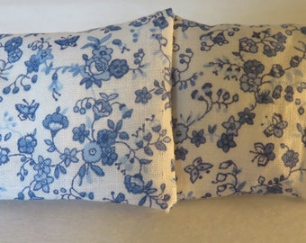 Lace-Trimmed Floral Pillowcases
