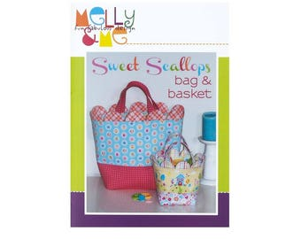 Basket PATTERN: Sweet Scallops bag and basket, Melly and Me, Easter, Fun, Toy, Playtime, Easter Basket