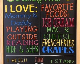 Two-Tti-Fruity Birthday Chalkboard