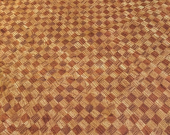 Knotty Intentions-Honey Checkered Wood Fabric designed by Deborah Edwards for Northcott Fabrics