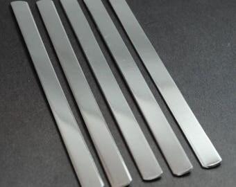 "Ten 3/8"" x 6"" 14g Aluminum Bracelet Stamping Blanks - 1100 Aluminum - Stamping Supplies, Jewelry Supplies"