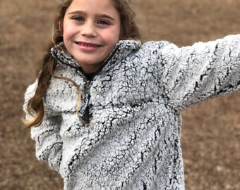 Youth Monogrammed Sherpa, Monogrammed Youth Sherpa, unisex youth Sherpa, Valentines Day gifts for her