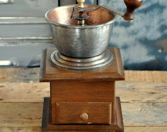 Wooden vintage coffee mill