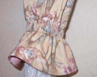 Plastic Grocery Bag Holder/Trash Bag Holder/Soft Mauve Floral / Damask / Organize Neaten Kitchens/Bathrooms/Campers/Great Gift
