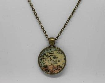 Poland Pendant Necklace ; Vintage Inspired ; Bronze Pendant Necklace