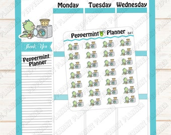 JJ washing Clothes --- planner stickers --- 641