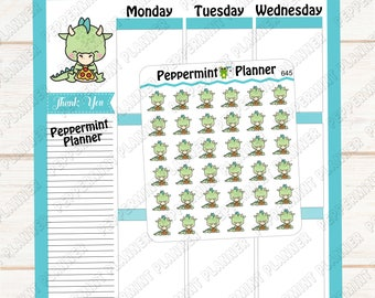 JJ Eating Pizza --- Planner Stickers --- 645