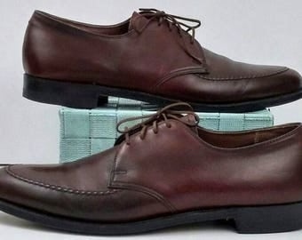 Vintage Breather Wright Oxford Dress Shoes, Men's 11.5 AA, Brown Leather Lace Up
