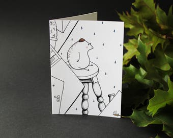 Rainy Days - Greeting Card - Blank Card - Magical - Fairy Tale - Nursery - Design