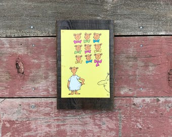 Dr. Seuss, ABC, 1963 Peace by Piece Reclaimed Wood Children's Book Illustration Wall Art, Vintage Picture Frame